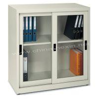 供应供应移门文件柜.移门档案柜.小双门文件柜,上玻璃下移动储物柜
