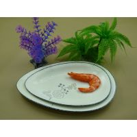 日韩陶瓷餐具平盘 西式盘(瓜子) 蔬果/小吃盘 滴水盘