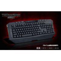 批发 黑爵黑暗骑士 机械键盘手感 游戏背光键盘 发光夜光电脑键盘