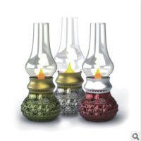 厂家直销LED吹控怀旧灯 复古马灯吹控感应煤油灯蜡烛灯创意台灯