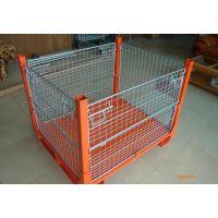 仓储笼钢铁货架物流仓储笼金属网铁丝笼架可定制结实耐用载重大