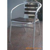 供应热销双管不锈钢椅户外铝合金椅子 餐厅椅子 花园家具 可堆叠椅