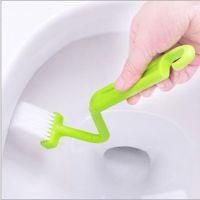 日式S型马桶刷 弯曲刷 厕所清里侧死角清洁刷 厕所刷 浴缸刷A116