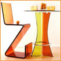 色彩有机玻璃椅子 高档透明亚克力时尚家具餐椅