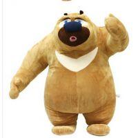 正版舒贝儿熊出没厂家直销批发 熊大熊二光头强毛绒玩具儿童礼物