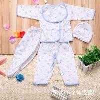 供应新生儿礼盒五件套 婴儿棉毛套装