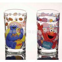 【厂家直销】迪士尼玻璃烤花杯、小熊维尼杯、米奇杯