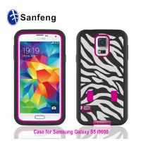 sam galaxy s5三合一斑马纹手机保护外壳 i9600镭雕豹纹手机套