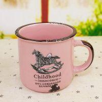 zakka 复古怀旧仿搪瓷杯陶瓷马克杯咖啡杯早餐杯水杯可爱创意礼物