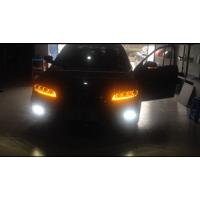 马自达6大灯改装|马自达6专用LED带转向天使眼泪眼大灯总成