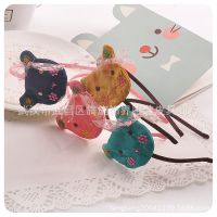 MISS-COCO韩国儿童发饰-绣花布熊头发箍 1409