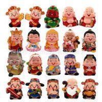 台湾好神公仔工艺品、三国人物动漫Q版娃娃财神汽车香水饰品