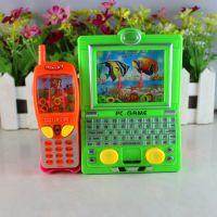 怀旧益智玩具批发 二合一笔记本电脑水机游戏机 打发消磨时间玩具