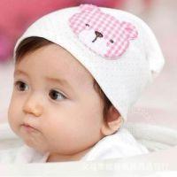 2012儿童春秋出口韩国纯棉动物造型小熊/套头帽/婴儿帽子批发