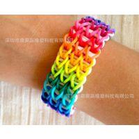 rainbow loom bands kit 彩虹编织橡皮筋 三层迷你彩盒家庭套装