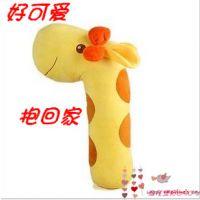 包邮创意可爱长颈鹿抱枕毛绒玩具立体圆柱抱枕家居儿童生日礼物