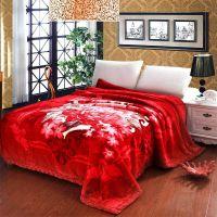 婚庆床品 秋冬保暖超柔加厚毯子/喜庆拉舍尔毛毯200×230cm/10斤