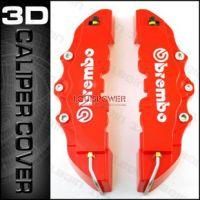 3D新款USA仿真版BREMBO刹车卡钳装饰罩 中号卡钳盖 卡钳套 黑/红