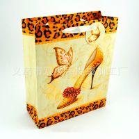 豹纹系列鞋子服装包装纸袋 白卡纸手提袋定做 批量订购服饰手提袋