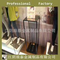 服装店橱窗展示架 热销鞋包店 不锈钢精品展台 定做加工