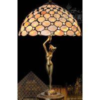 蒂凡尼台灯欧式田园风格彩色玻璃灯饰家居卧室床头灯具