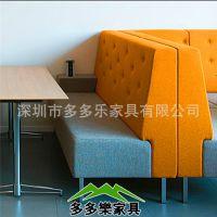卡座沙发 双人卡座沙发 弹性舒适 深圳厂家 多多乐家具