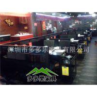 深圳多功能无烟餐厅火锅餐桌子 内嵌式电磁炉餐桌