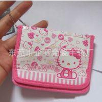 可爱hello kitty布艺名片包卡包东莞厂家供应品牌卡通零钱包