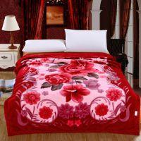 新款加厚拉舍尔毛毯 婚庆床品超柔毛毯 双人毯批发 团购回礼
