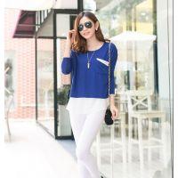 供应新款韩版大码女装长款打底衫宽松长袖T恤女EJ885631