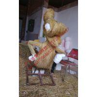 广东玻璃钢雕塑迪士尼卡通雕塑米奇与唐老鸭雕塑稻草人雕塑稻草米奇与唐老鸭厂家