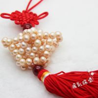 正品天然珍珠车饰中国结车挂件  厂家直销 民族风散装 可制作礼包