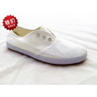 供应全网系带白网布鞋 帆布男女通用白球鞋 白事用鞋