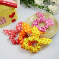 韩版可爱迷你小小圆点小兔耳朵发饰头饰 发圈发绳发带头花