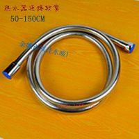 供应厂家直销50-150CM不锈钢双扣防爆电镀热水器连接花洒软管