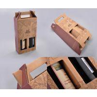 红酒纸盒葡萄酒手提纸盒礼盒包装双支手抽纸盒礼品包装袋手提纸袋