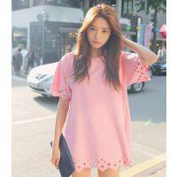 8314#韩国NEW ARRIVED 可爱泡沫打孔迷你连衣裙