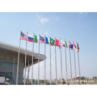 宁波旗杆 不锈钢旗杆 企业旗杆加工制作 送旗帜