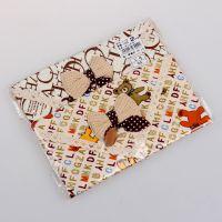 开心三角巾(两件装)新款三角巾 精梳斜纹棉巾包花边角巾 围嘴围