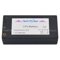 LiPo RC Car Battery Pack 2S2P 4000mAh 25C