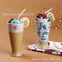 第二波特价!原价39元日式陶瓷婚庆套装餐具杯直纹果汁杯批发
