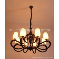 供应厂家批发欧式简约现代灯带光源|客厅餐吊水晶灯餐吊MD0180001-8