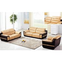 LBZ-3806# Yellow Leather Sectional Sofa 123 Living Room Leather Sofas