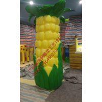 广东树脂工艺品雕塑园林景观雕塑厂家玉米玉米装饰柱雕塑制造与报价