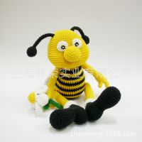 [厂家直销]毛线公仔 手钩毛线玩偶 毛线编织洋娃娃 针织毛线玩具