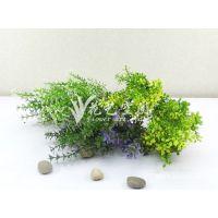 价格实惠 6叉免草 假花仿真植物 装饰塑料花 仿真绢花批发