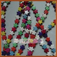五角星绿松石 隔片 藏式隔珠DIY佛珠 饰品散珠配件材料批发 彩色