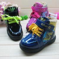 2014冬季新款 韩版男女款童鞋批发 大棉儿童皮鞋 30-35码 501