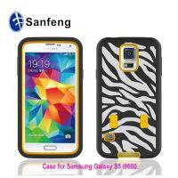 外贸出口 SAMSUNG s5/i9600无支架镭雕手机保护套 硅胶机器人供应