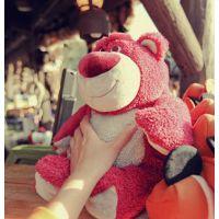 迪士尼玩具总动员 草莓熊公仔 劳苏熊 lotso Huggin Bear毛绒玩具